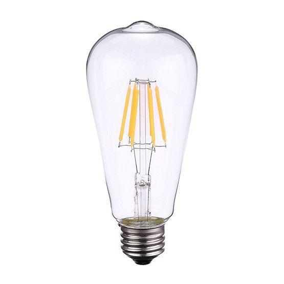 Lâmpada LED Filamento 4W ST64 Âmbar E27