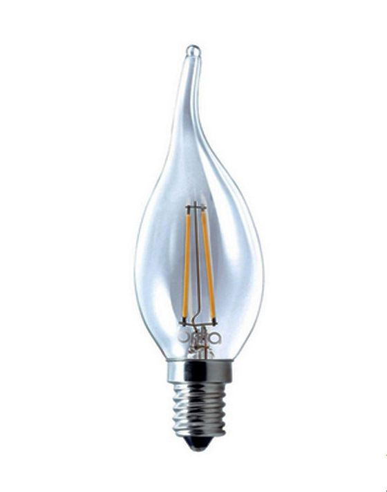 Lâmpada LED Filamento 4W Vela Âmbar E14