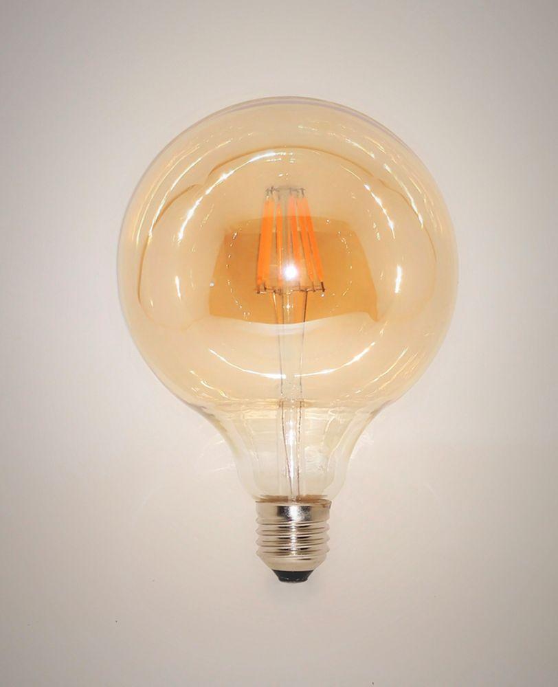 Lâmpada LED Filamento 6W G120 Âmbar E27