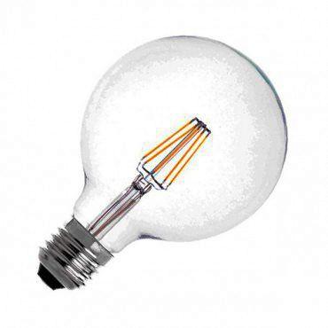 Lâmpada LED Filamento 6W G95 Âmbar E27