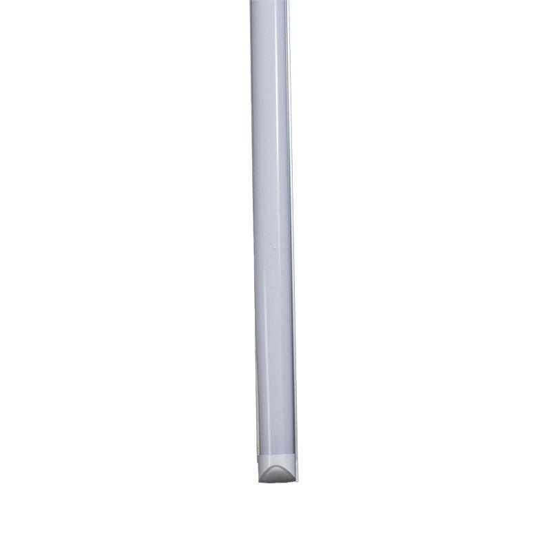 Lâmpada Led Tubular com calha T8 09W 60 cm bivolt Branco Frio
