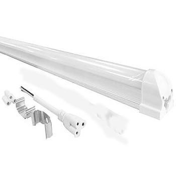Lâmpada Led Tubular com calha T8 18W 120 cm bivolt Branco Quente