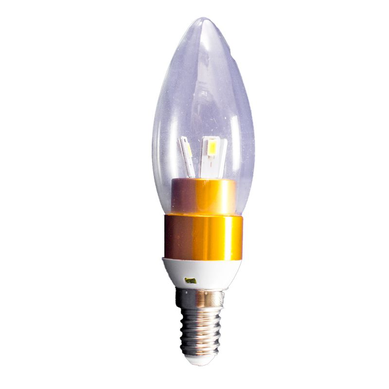 Lâmpada Led Vela 03W Soquete E14 Branco Quente