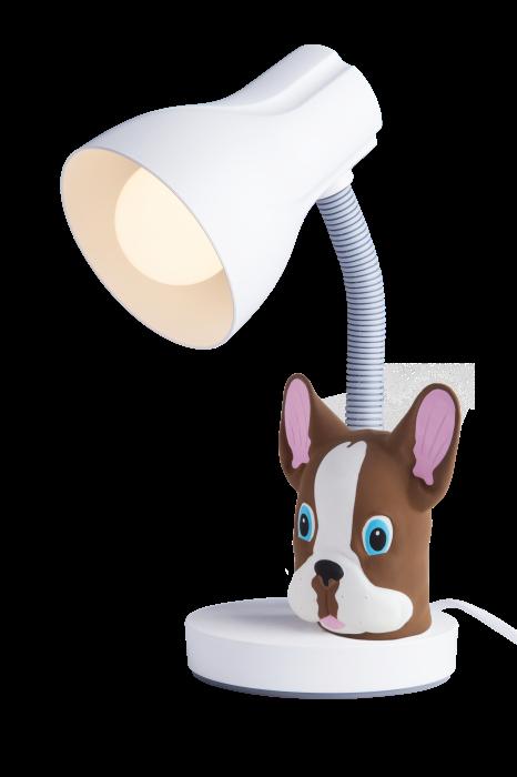 Luminária De Mesa Spiralle Branca Com Pendeco Buldog Mr Startec
