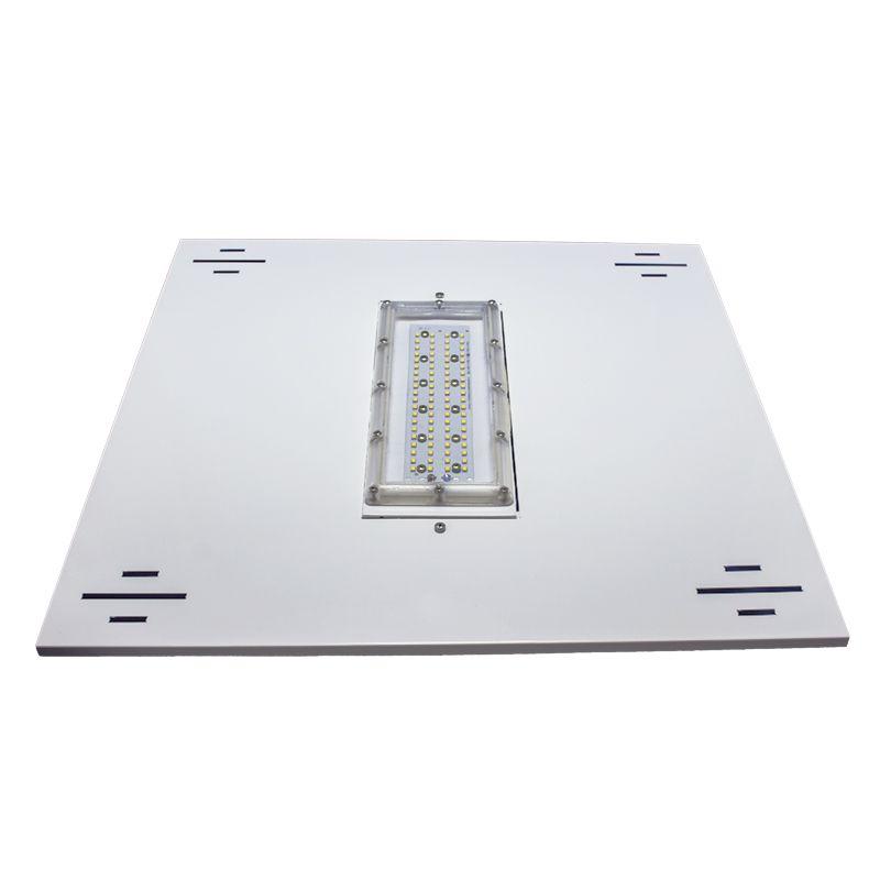 Luminária de Posto de Combustível 1 módulos 75W 8.000 Lumens Branco Frio