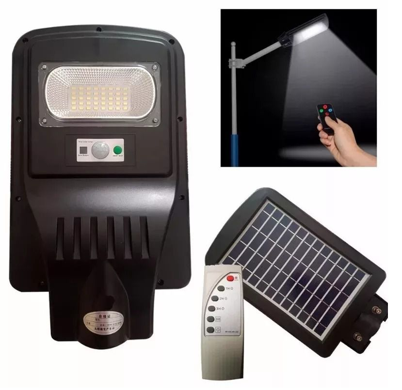 Luminária Pública Led 20w Solar Integrada