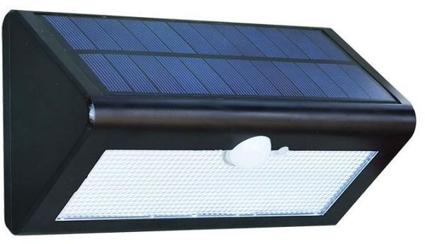 Luminária Solar Para Parede Com Sensor De Presença 20w
