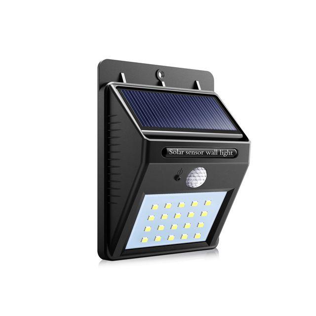 Luminária Solar Para Parede Com Sensor De Presença