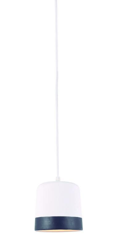 Lustre Pendente Adely 14 cm Concreto Branco Decor Preto