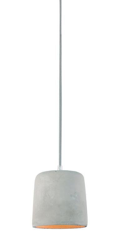 Lustre Pendente Adely 14 cm Concreto Cinza
