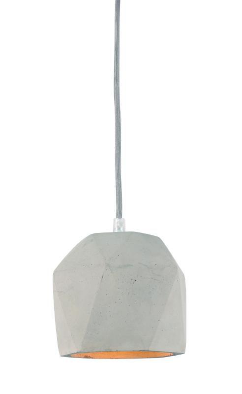 Lustre Pendente Adely 14 x 17 cm Concreto Cinza