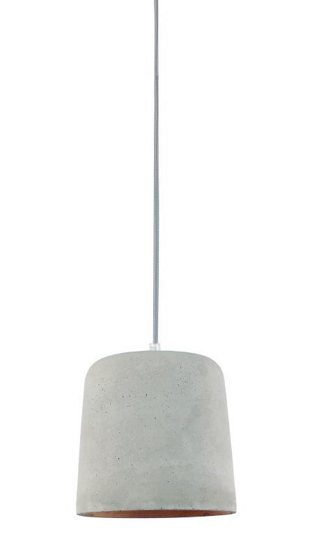 Lustre Pendente Adely 18,5 x 18,5 x 23 cm Concreto Cinza