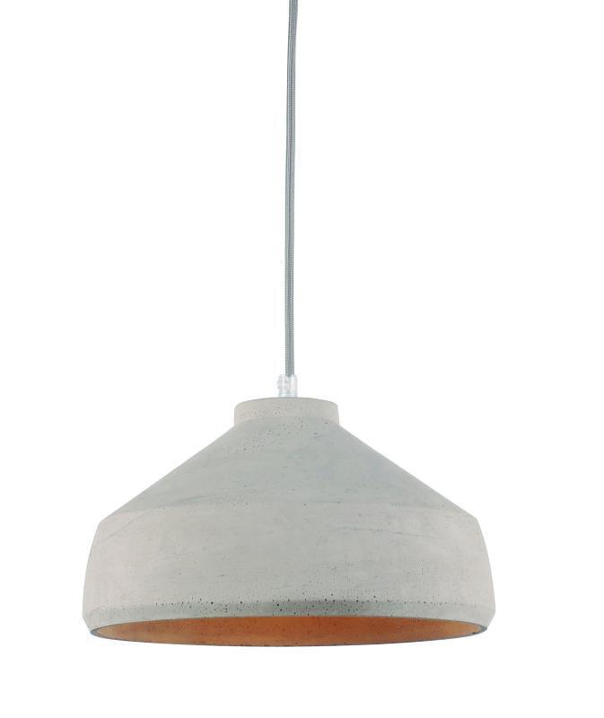 Lustre Pendente Adely 28,5 cm Concreto Cinza