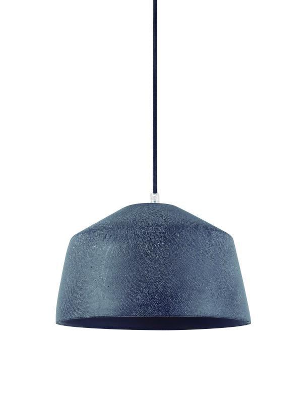 Lustre Pendente Adely 28,5 cm Concreto Cinza Chumbo