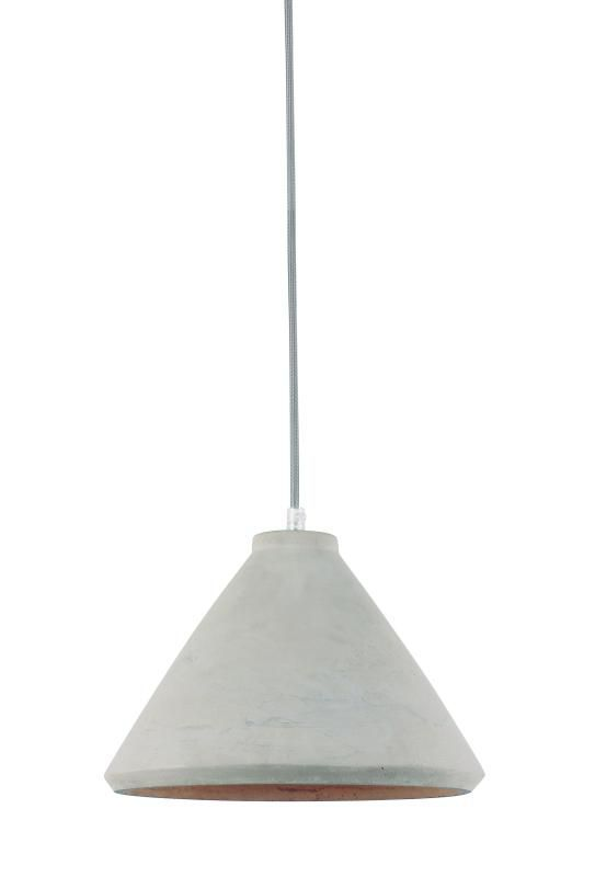 Lustre Pendente Adely 29 cm Concreto Cinza
