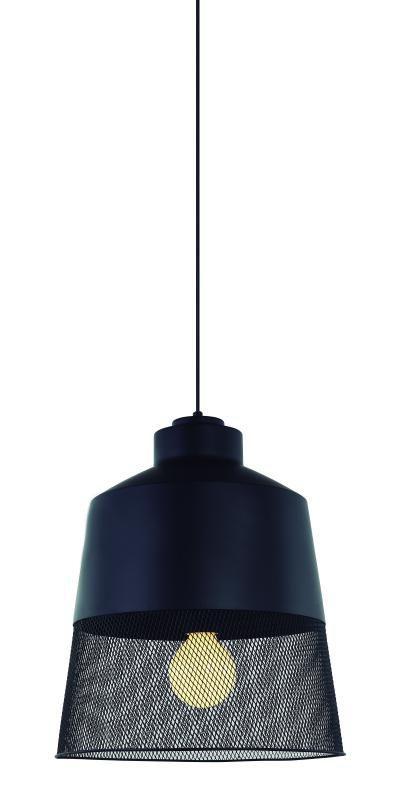 Lustre Pendente Adely Alumínio 33 cm Preto