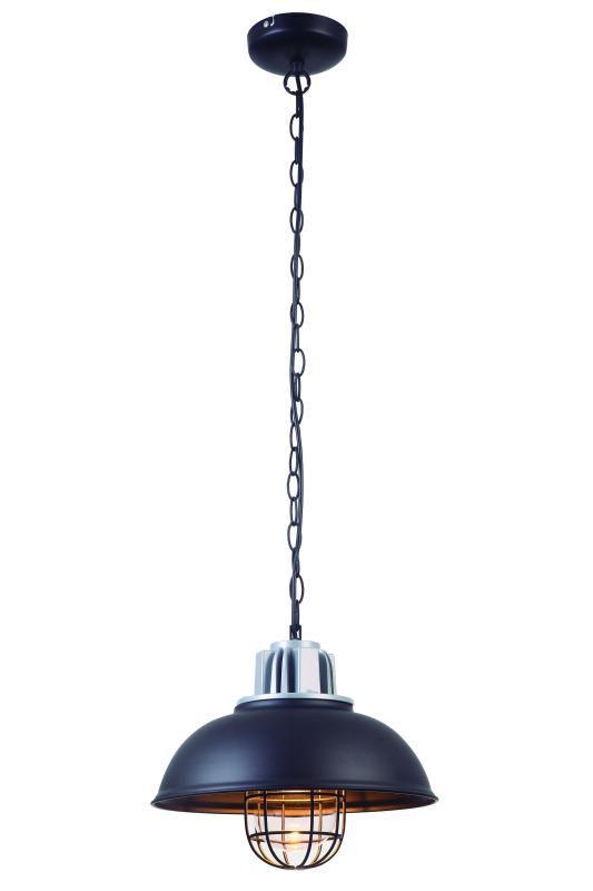 Lustre Pendente Adely Alumínio 33 cm Preto Fosco