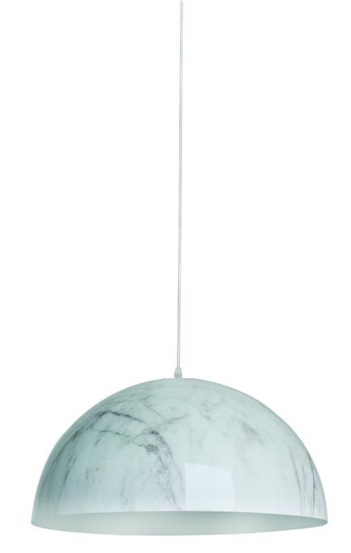 Lustre Pendente Adely Alumínio Decoração Mármore 32 cm