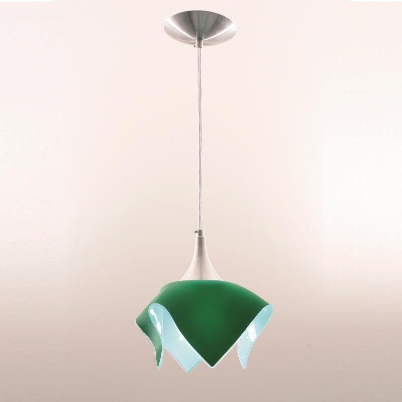 Lustre Pendente Color - Verde Auremar