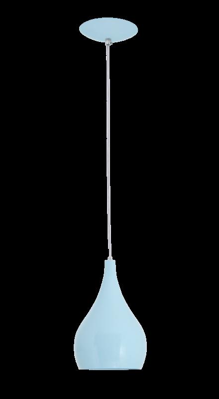 Lustre Pendente Drop 1L Azul Baby Auremar