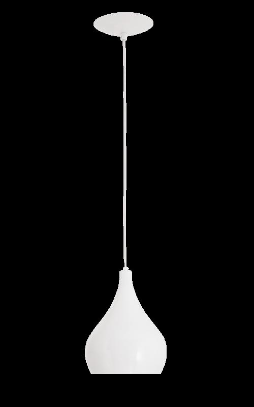 Lustre Pendente Drop 1L Branco Auremar