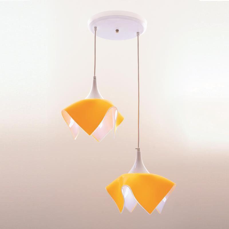 Lustre Pendente Duplo Color - Amarelo Auremar