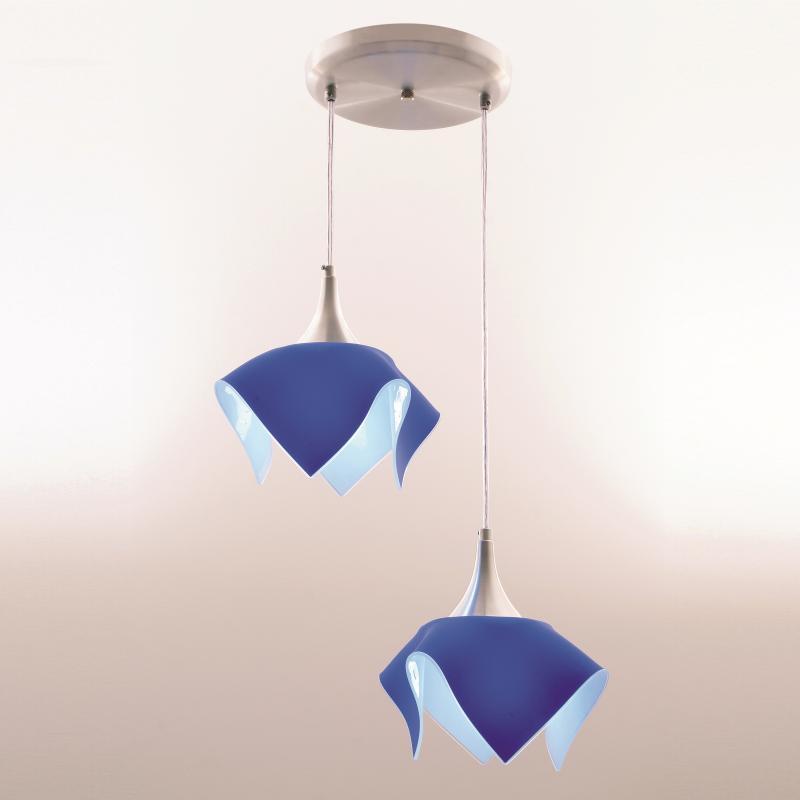 Lustre Pendente Duplo Color - Azul Auremar