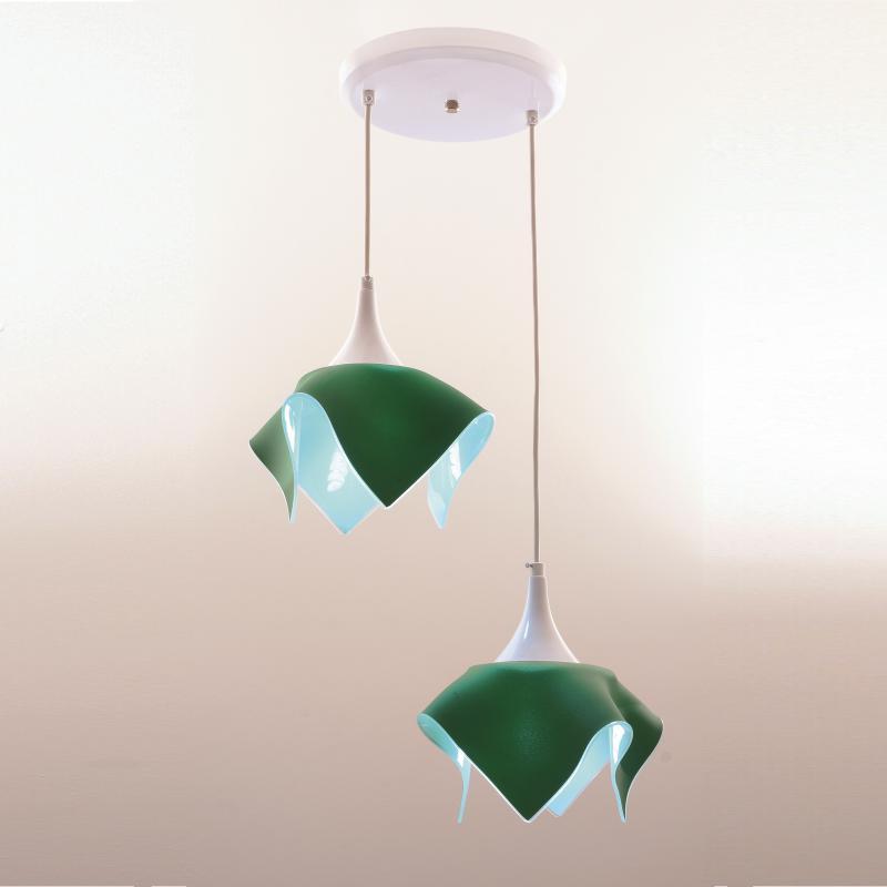 Lustre Pendente Duplo Color - Verde Auremar