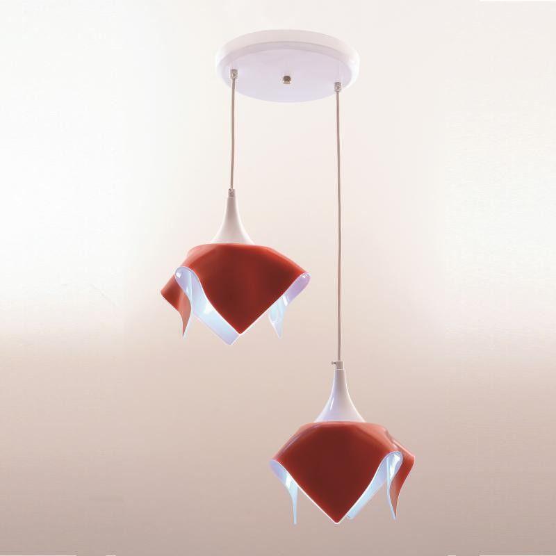 Lustre Pendente Duplo Color - Vermelho Auremar