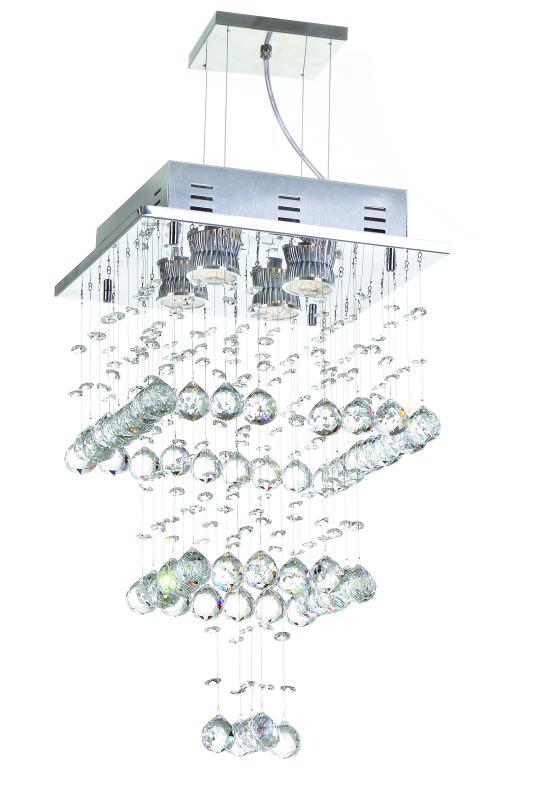 Lustre Pendente Lille P/ 4 Lamp Gu10 Auremar