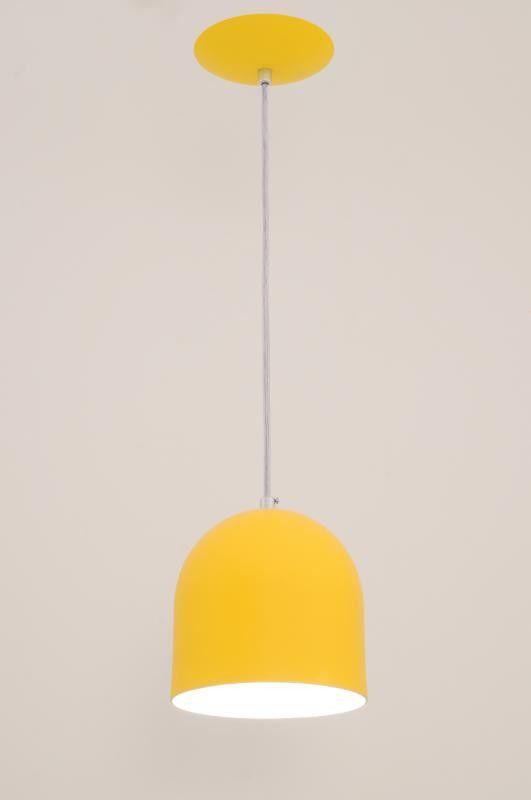 Lustre Pendente Sevilha 1L Amarelo Auremar