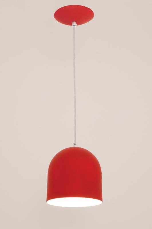 Lustre Pendente Sevilha 1L Vermelho Auremar
