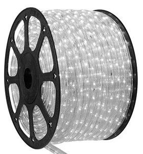 Mangueira 220V LED Branco Frio Rolo 100m com 5 tomadas