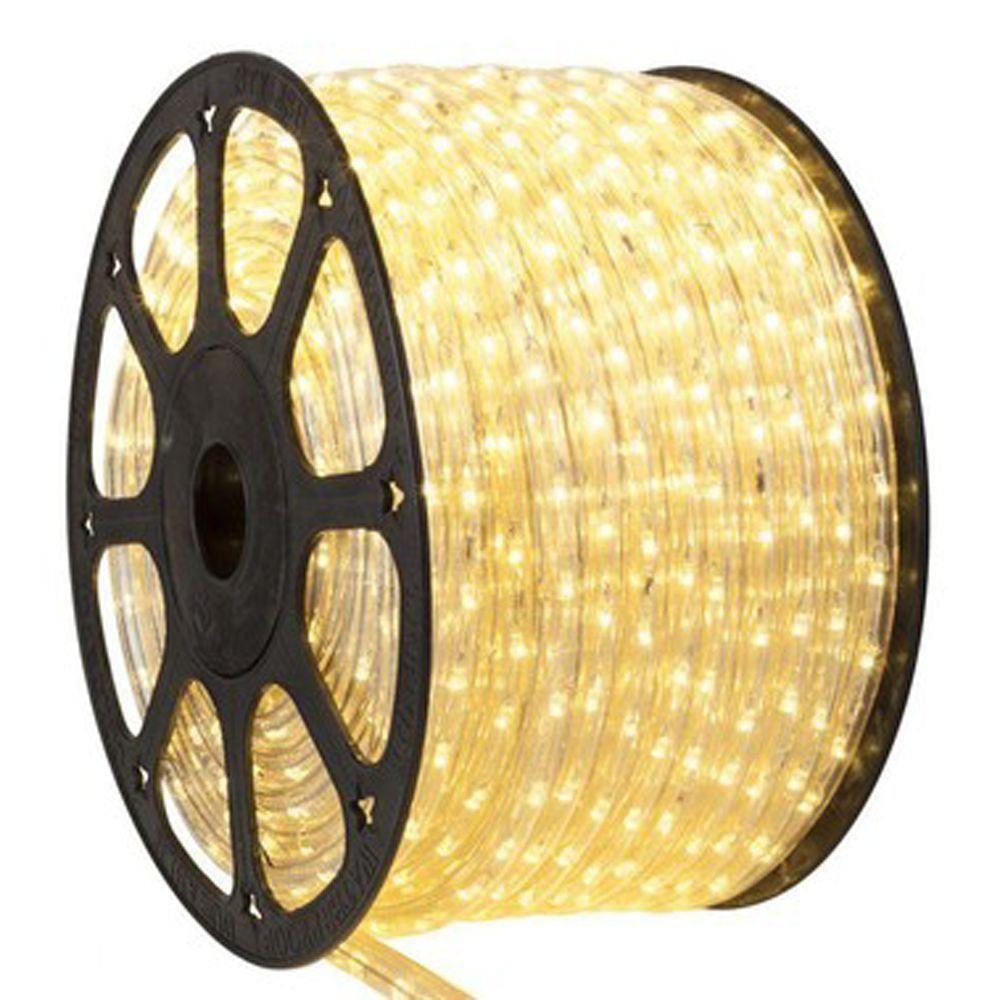 Mangueira 220V LED Branco Quente Rolo 100m com 5 tomadas