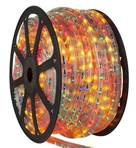 Mangueira 220V LED RGB Rolo 100m com 5 tomadas