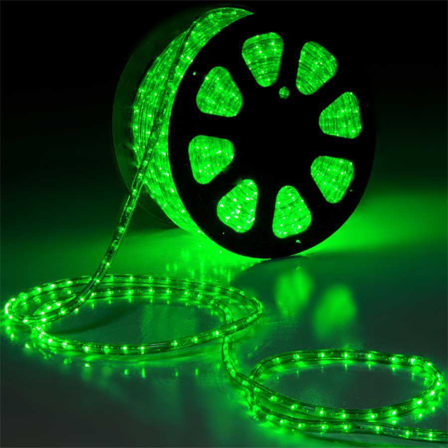 Mangueira 220V LED Verde Rolo 100m com 5 tomadas