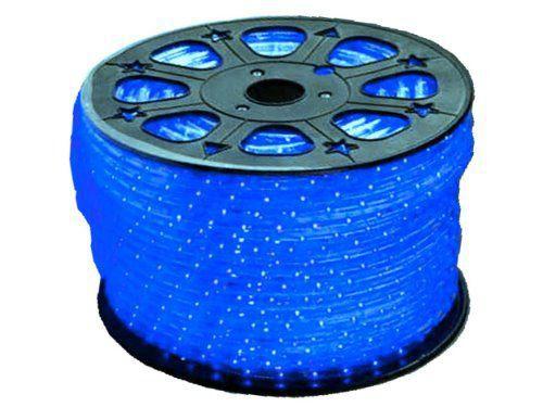 Mangueira Fita 220V LED Azul Rolo 100m com 4 tomadas