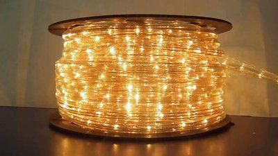 Mangueira Fita 220V LED Branco Quente Rolo 100m com 4 tomadas