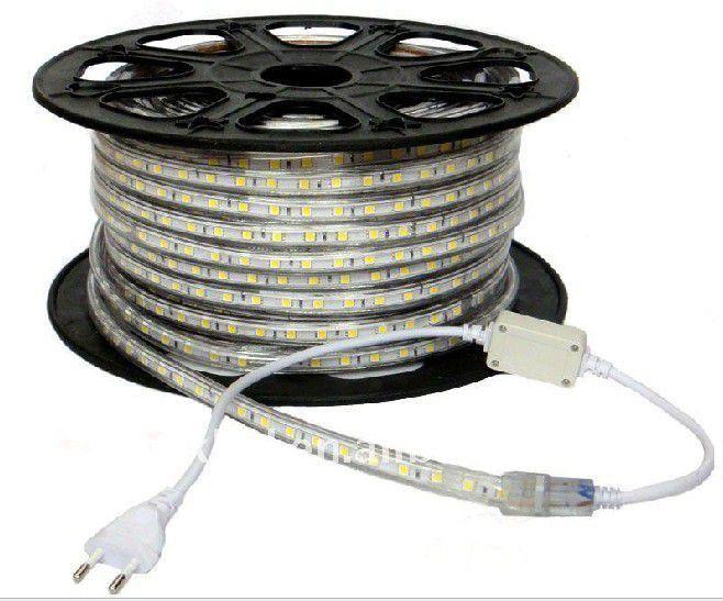 Mangueira Fita 220V LED RGB Rolo 100m com 4 tomadas