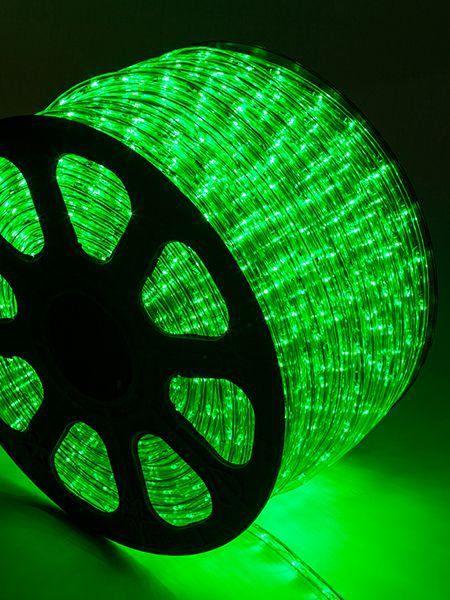 Mangueira Fita 220V LED Verde Rolo 100m com 4 tomadas
