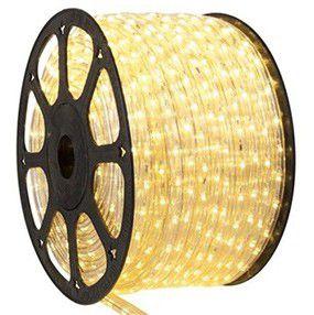 Mangueira 110V LED Branco Quente Rolo 100m com 5 tomadas