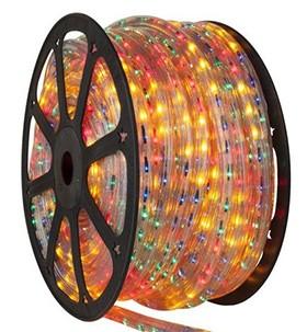 Mangueira 110V LED RGB Rolo 100m com 5 tomadas