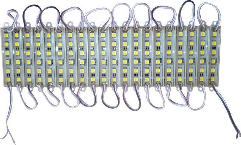 Módulo 06 Leds 5050 Branco Frio Kit com 20 unidades
