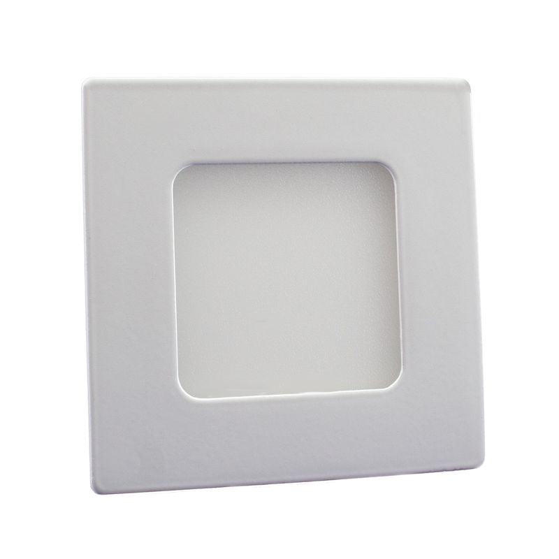 Plafon Led de Embutir Quadrado 03W - 08 x 08 cm Branco Frio 6000K