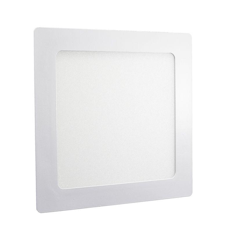 Plafon Led de Embutir Quadrado <br/>12W - 17 x 17 cm Quente 3000K
