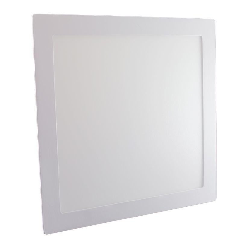 Plafon Led de Embutir Quadrado <br/>24W - 30 x 30 cm Quente 3000K