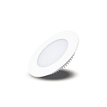 Plafon Led de EMBUTIR REDONDO <br/>06W - 12,5 cm Branco Frio 6000K
