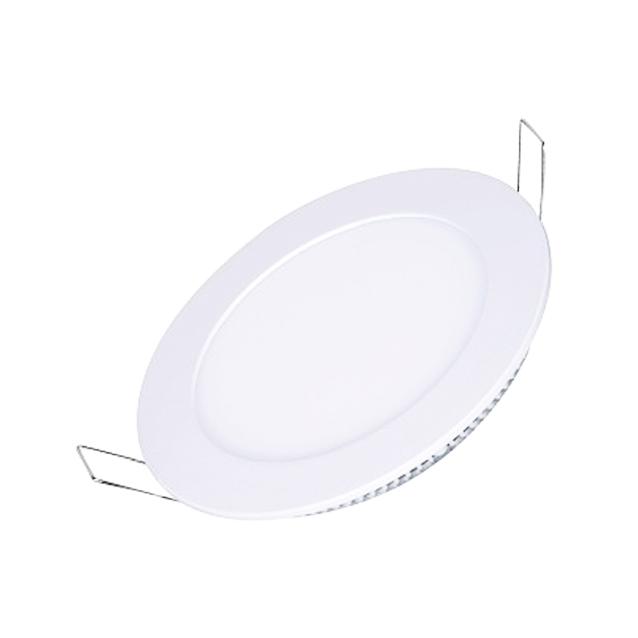 Plafon Led de EMBUTIR REDONDO <br/>12W - 17,5 cm Branco Frio 6000K