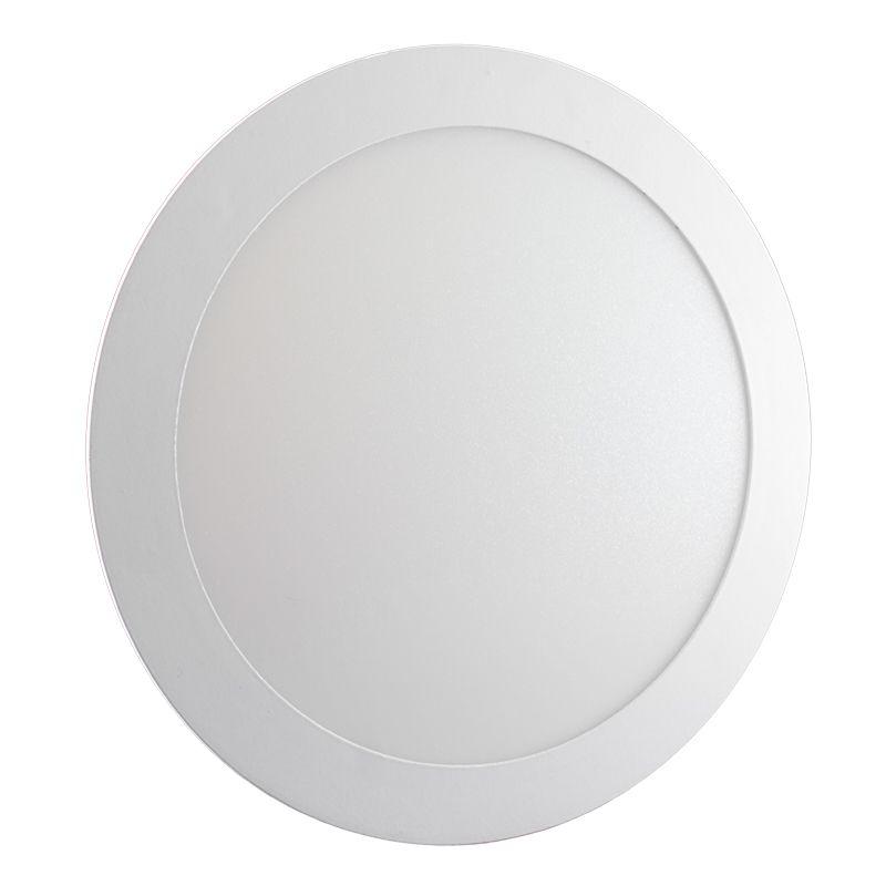 Plafon Led de Embutir Redondo <br/>18W - 22 cm Branco Frio 6000K