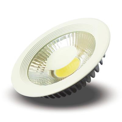 PLAFON LED DE EMBUTIR REDONDO COB 30W Branco Frio 6000K